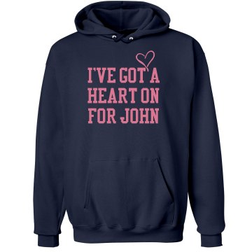 I've Got A Heart On... Unisex Hanes Ultimate Cotton Heavyweight Hoodie