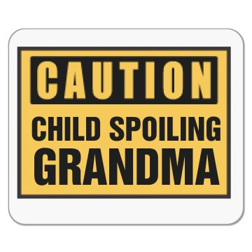 Child Spoiling Grandma Mousepad
