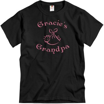 Gracie&#x27;s Grandpa Unisex Gildan Heavy Cotton Crew Neck Tee