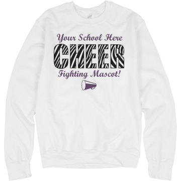 Cheer Sweatshirt Template Unisex Hanes Crew Neck Sweatshirt