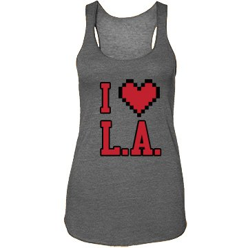 I Heart L.A. Junior Fit Bella Sheer Longer Length Rib Strap Tank Top