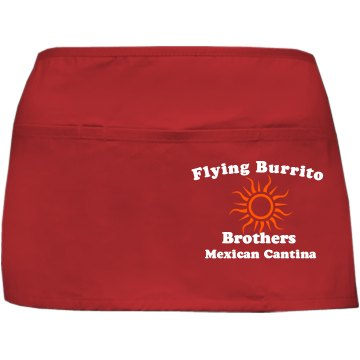 Flying Burrito Apron Port Authority Waist Apron with Pockets