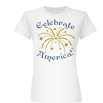 Celebrate America! Junior Fit Basic Bella Favorite Tee
