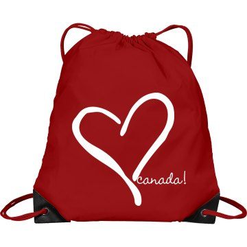 Celebrate Canada Port & Company Drawstring Cinch Bag