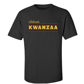 Celebrate Kwanzaa Unisex Gildan Heavy Cotton Crew Neck Tee