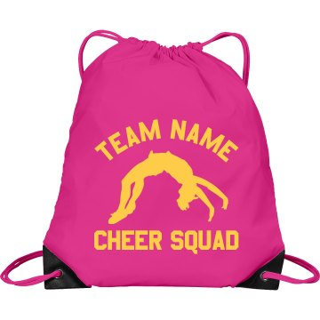 Central High Cheer Squad Port & Company Drawstring Cinc
