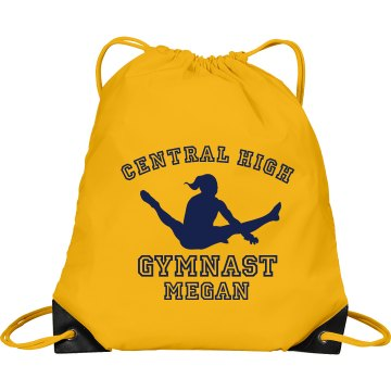 Central High Gymnast Port & Company Drawstring Cinch Bag