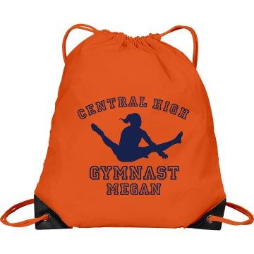 Central High Gymnast Port & Company Drawstring Cinch Bag