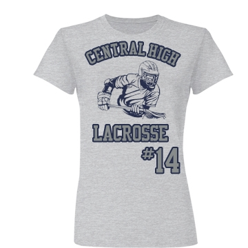 Central High Lacrosse Junior Fit Basic Bella Favorite Tee