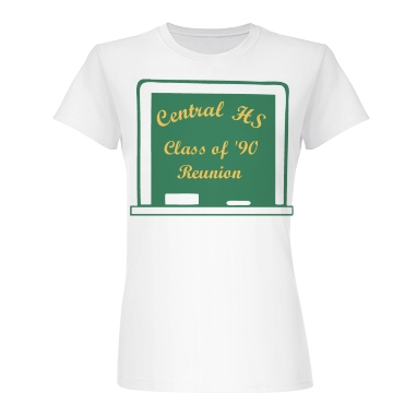 Central HS Reunion Junior Fit Basic Bella Favorite Tee