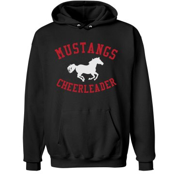 Mustangs Cheerleader Unisex Hanes Ultimate Cotton Heavyweight Hoodie