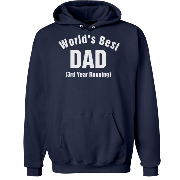 World's Best Dad Unisex Hanes Ultimate Cotton Heavyweight Hoodie