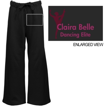 Claira Belle Dancer Youth Bella Girl Fleece Open Bottom Pants