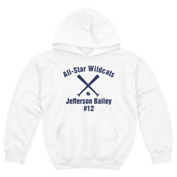 Wildcats Softball #12 Youth Gildan Heavy Blend Hoodie