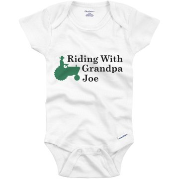 Riding With Grandpa Joe Infant Bella Baby Long Sleeve Lap Shoulder Tee