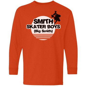Big Smith Skater Youth Gildan Heavy Cotton Long Sleeve Tee