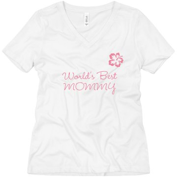 World&#x27;s Best Mommy Misses Relaxed Fit Anvil V-Neck Tee
