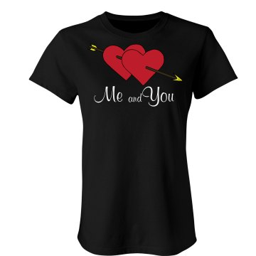 Me And You Valentine Junior Fit Bella Sheer Longer Length Rib Tee