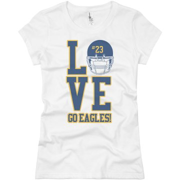 Eagle Football Girlfriend Junior Fit Basic Bella Favorite Tee