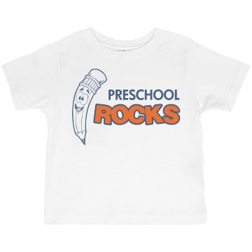 Preschool Rocks Toddler Gildan Ultra Cotton Crew Neck Tee