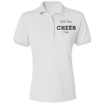 Cheer Captain Polo Misses Relaxed Fit Jerzees Spotshield Polo Shirt
