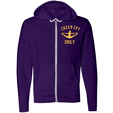 Cheer Captain Unisex Canvas Fleece Full-Zip Hoodie