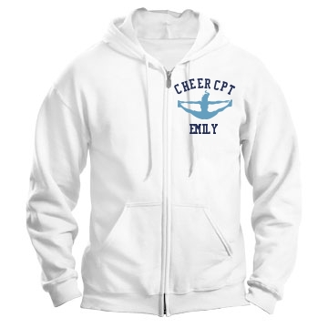 Cheer Captain Unisex Gildan Heavy Blend Full Zip Hoodie