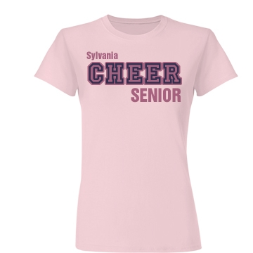Cheer Center Pink Tee Junior Fit Basic Bella Favorite Tee