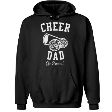 Cheer Dad Black  Unisex Hanes Ultimate Cotton Heavyweight Hoodie