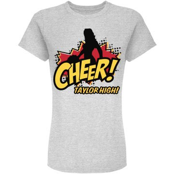 Cheer for the High School Junior Fit American Apparel Fine Jersey Tee