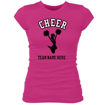 Cheer! For Your Team Junior Fit Bella Sheer Longer Length Rib Tee