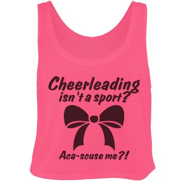 Cheer Isn't A Sport Bella Flowy Boxy Lightweight Crop Top Tank Top
