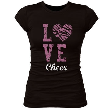 Cheer Love Junior Fit Bella Sheer Longer Length Rib Tee