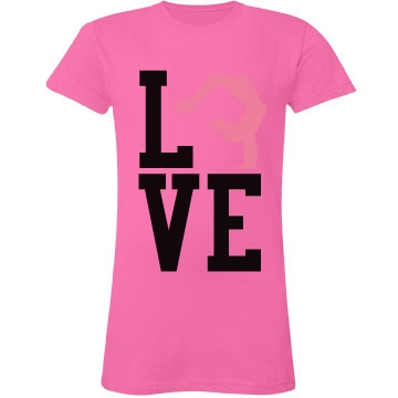 Cheer Love Junior Fit LA T Fine Jersey Tee