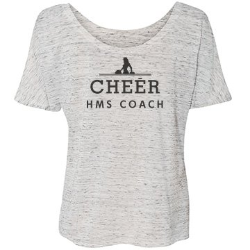 Cheer Middle School Coach Bella Flowy Lightweight Simple Tee