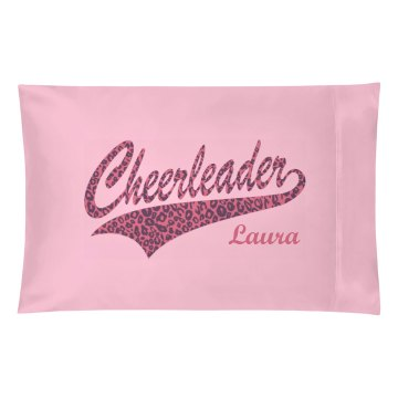 Cheer Pink Leopard Pillow