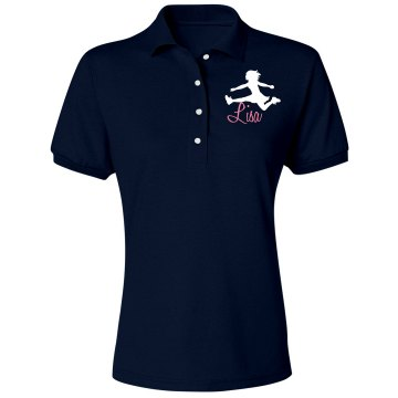 Cheer Polo Misses Relaxed Fit Jerzees Spotshield Polo Shirt