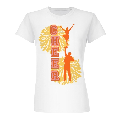 Cheer Pom Poms Junior Fit Basic Bella Favorite Tee