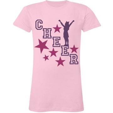 Cheer Stars Junior Fit LA T Fine Jersey Tee