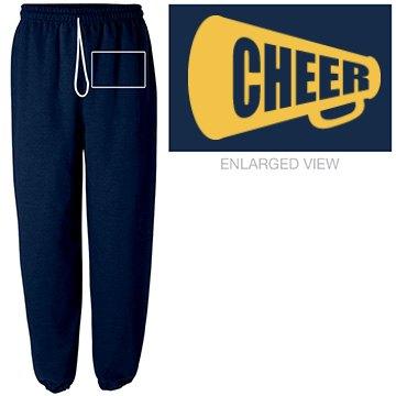 Cheer Sweatpants w/ Back