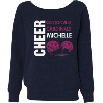 Cheer Sweatshirt Misses Relaxed Fit Bella Triblend Slouchy Wideneck Sw