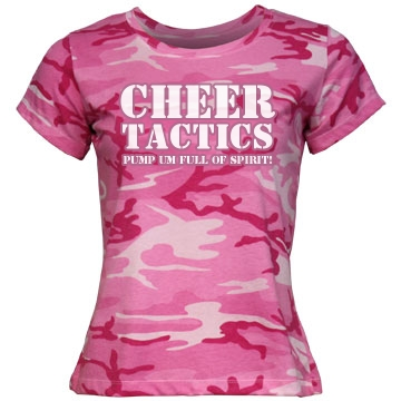 Cheer Tactics Misses Relaxed Fit Code V Jersey Pink Camo Tee