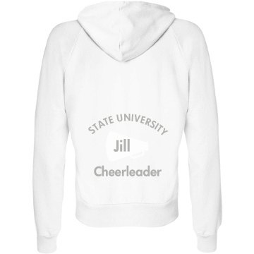 Cheerleader Hoodie Junior Fit Bella Fleece Raglan Full Zip Hoodie