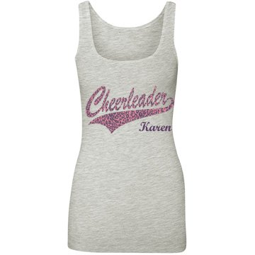 Cheerleader Leopard Logo