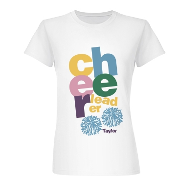 CHEER-leader Pom Poms Junior Fit Basic Bella Favorite Tee