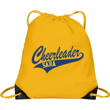 Cheerleader Script Bag Port & Company Drawstring Cinch Bag