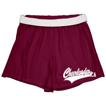 Cheerleader Short w/ Back Junior Fit Soffe Cheer Sh