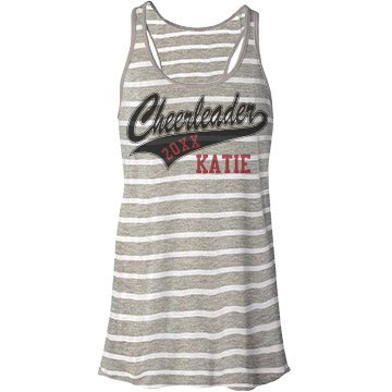 Cheerleader Tank Bella Flowy Lightweight Racerback Tank Top