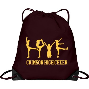 Cheerleading Love Bag Port & Company Drawstring Cinch Bag