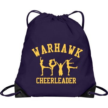 Cheerleading Love Port & Company Drawstring Cinch Bag